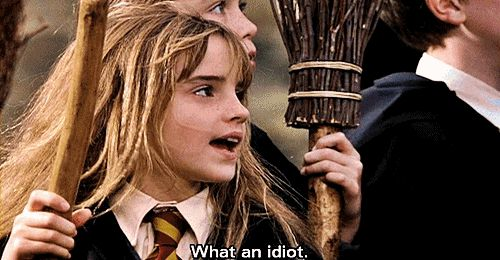 Hermione - What an idiot (gif)
