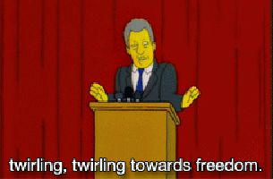 Twirling Freedom Gif