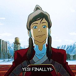 Korra - Finally gif