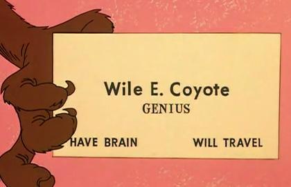 Wile E. Coyote, Genius
