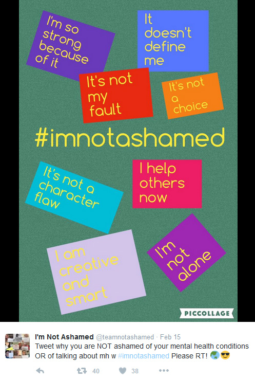 Screenshot of I'm Not Ashamed Tweet and graphic