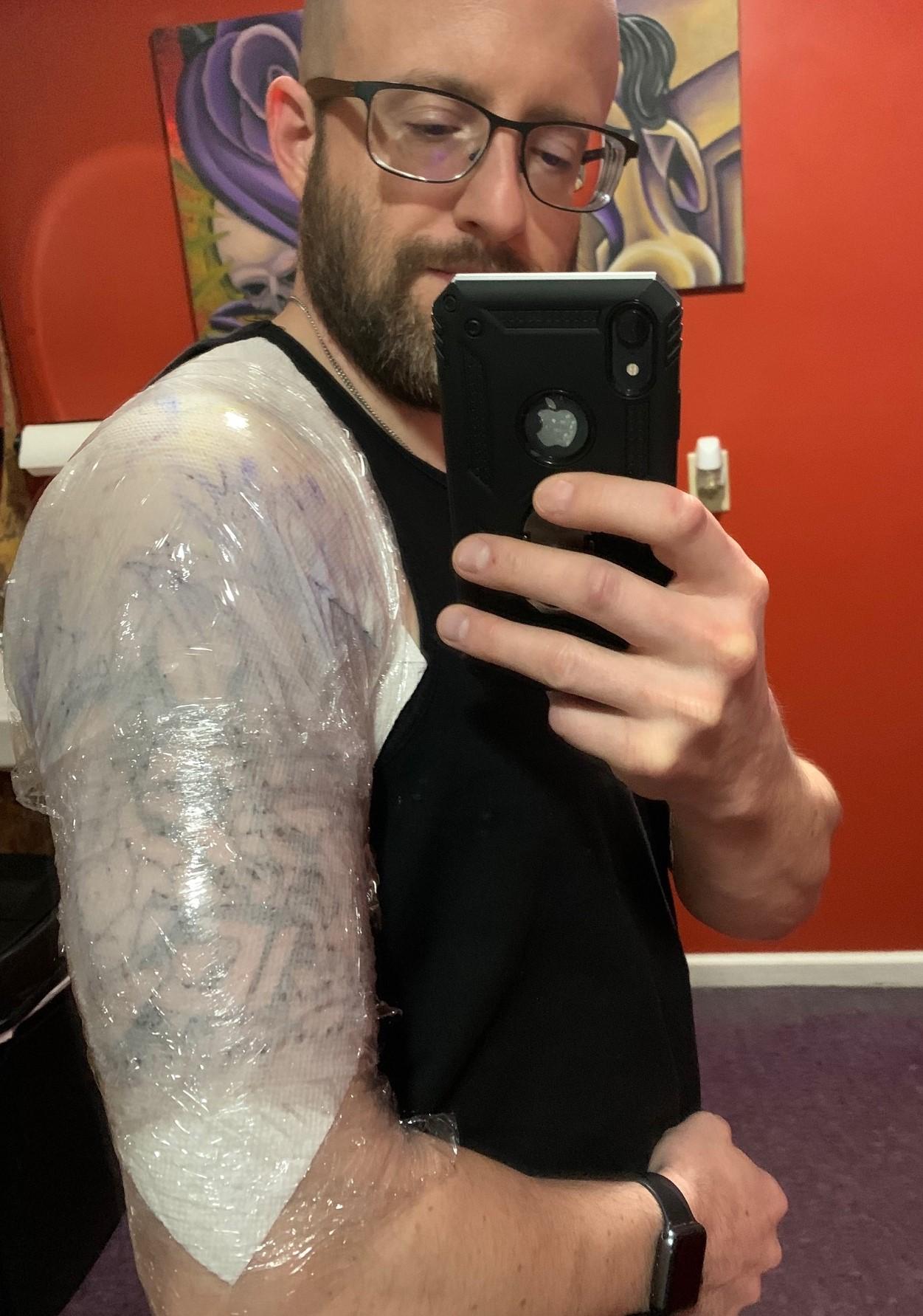 Bactine wrap